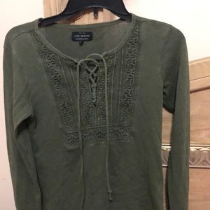Long sleeve dark green shirt